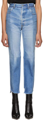 Vetements Blue Reworked Biker Jeans