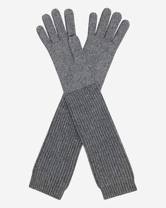 N.Peal Long Ribbed Cashmere Gloves