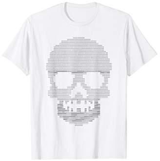 Funny Binary Skull Themed code T-Shirt Tech Gift for Geek