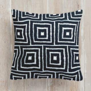 Shibori Squares Square Pillow