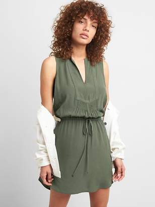 Gap Sleeveless Tie-Waist Bib Front Shirtdress