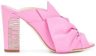 Moschino back logo embellished sandals