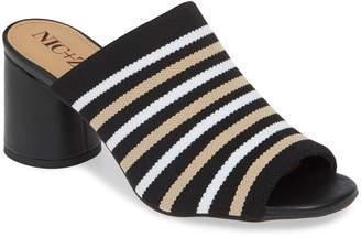 Nic+Zoe Padma Stripe Knit Mule Sandal