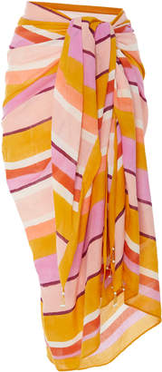 Matta Striped Cotton-Voile Sarong