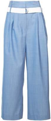 Tibi Serge pleat detail wide leg trousers