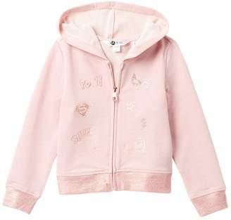 Petit Lem Top Knit Hoodie (Toddler & Little Girls)