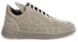 Filling Pieces Astro Striped Suede Low-Top Sneakers