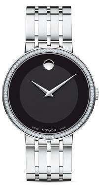 Movado Esperanza Diamond Black Dial Watch, 39mm