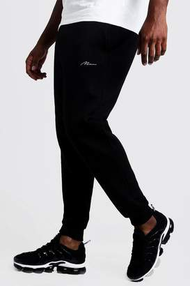 boohoo Big and Tall MAN Script Slim Fit Jogger