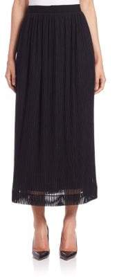 Tamara Mellon Sheer-Stripe Midi Skirt