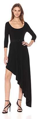Norma Kamali Women's Reversible Scoop Neck Diagonal Flared Dress
