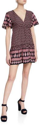 Raga Avah Printed Short Wrap Dress
