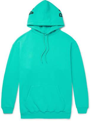 Balenciaga Oversized Logo-Print Fleece-Back Cotton-Blend Jersey Hoodie