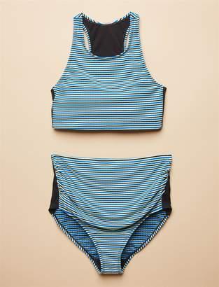 Motherhood Maternity Racerback Maternity Bikini Swimsuit