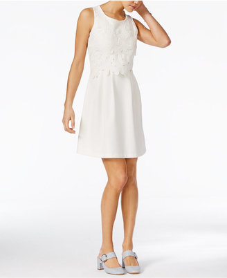 Maison Jules Lace Overlay Dress, Only at Macy's $99.50 thestylecure.com
