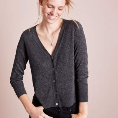 Sparkle Cropped Cardigan