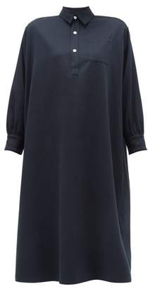 Holiday Boileau Ines Buttoned Cotton Dress - Womens - Navy