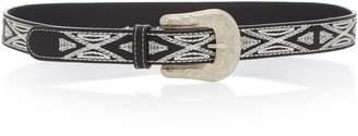 Isabel Marant Tety Embroidered Leather Belt