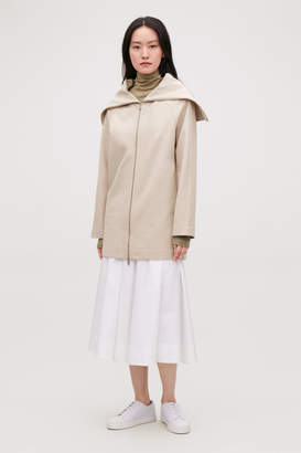 Cos ZIP-UP JACKET WITH LARGE COLLAR