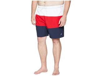 Nautica Big Tall Tricolor Block Trunk Men's Swimwear