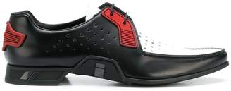 Prada perforated lace-up shoes