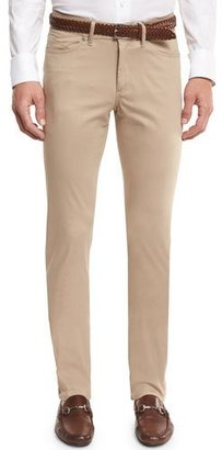 Peter Millar Collection Perfect Poplin 5-Pocket Pants, Sandalwood $248 thestylecure.com