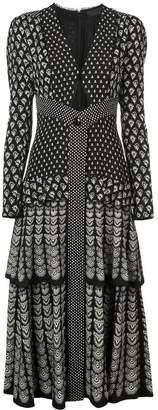 Proenza Schouler Block Print Long Sleeve Dress