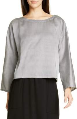 c5592d385ce815 Eileen Fisher Stripe Silk & Cotton Blouse