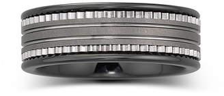 MODERN BRIDE Mens 7.5mm Ceramic & Stainless Steel Band