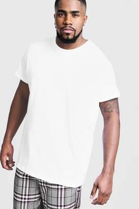 boohoo Big And Tall Longline Basic T-Shirt