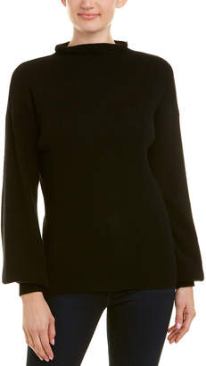 Qi Ribbed Funnel Neck Cashmere Sweater