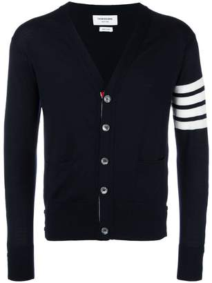 Thom Browne Classic V-neck Cardigan In Fine Merino Wool