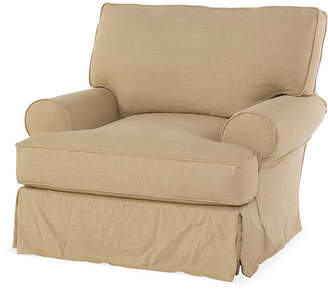 Comfy Slipcovered Club Chair - Flax Linen - Rachel Ashwell