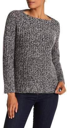 Vince Wool & Cashmere Blend Marled Knit Sweater