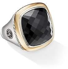 David Yurman Women's Albion Sterling Silver, 18K Yellow Gold & Black Onyx Ring