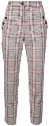 Veronica Beard checked print trousers