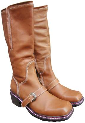 Pollini Beige Leather Boots