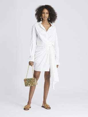 d63bbe1bf5 Oscar de la Renta Stretch-Cotton Poplin Wrap Shirtdress