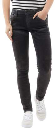 G Star G-STAR Womens 5620 Elwood Mid Waist Skinny Jeans Dark Aged Cobbler