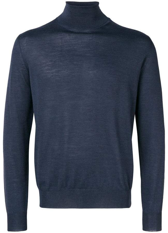 Canali turtle-neck fitted sweater