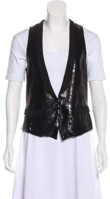 Rag & Bone Sequined Button-Up Vest