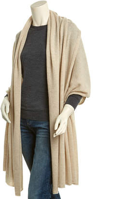 In2 By Incashmere Heather Oatmeal Long Cashmere Shawl