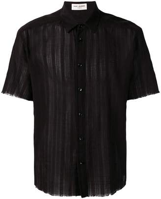 Saint Laurent sheer panelled shirt