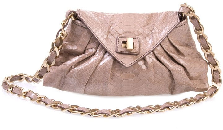 ZAGLIANI - Python chain strap shoulder bag