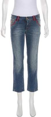 Galliano Cropped Low-Rise Straight-Leg Jeans w/ Tags