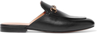 Gucci - Horsebit-detailed Leather Slippers - Black $595 thestylecure.com