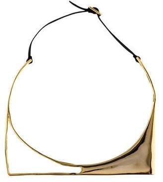Alexis Bittar Liquid Gold Architectural Choker Necklace