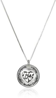 Sterling Two-Piece Mother Daughter Pendant Necklace