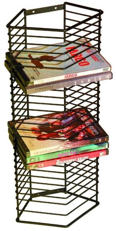 Atlantic Onyx 28-DVD Blu-Rays Multimedia Storage Tower Wall Mount or Free Standing in Matte Black