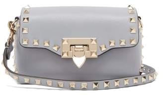 Valentino Rockstud Mini Leather Cross Body Bag - Womens - Light Blue